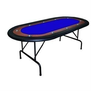 HIGH RANGE Foldable Oval Poker Table blue