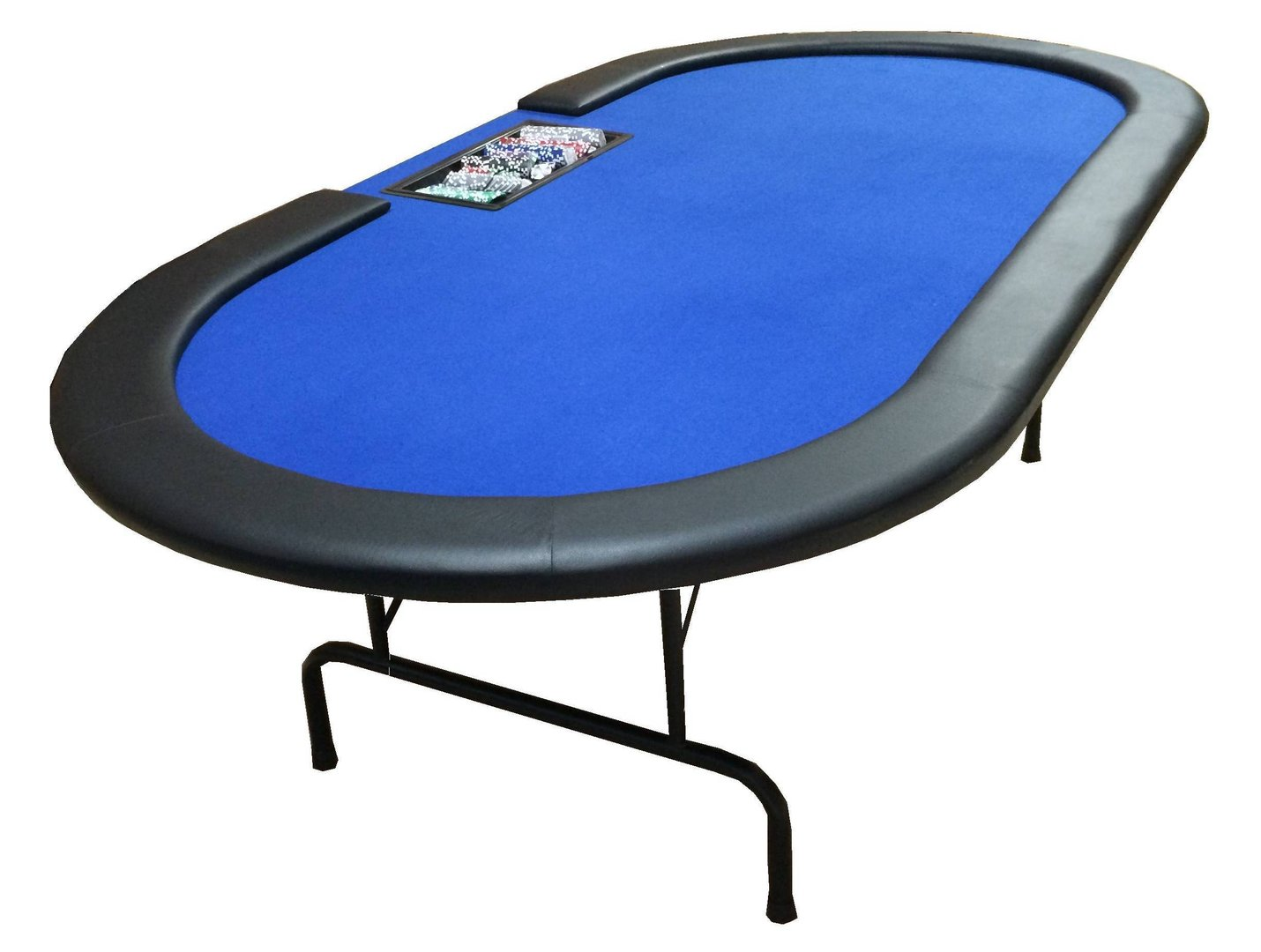 table de poker ovale avec croupier 240cm. Black Bedroom Furniture Sets. Home Design Ideas