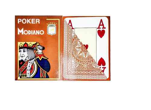 Modiano Poker Jumbo marrón