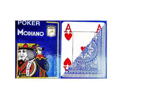 Modiano Poker Jumbo Azul Claro
