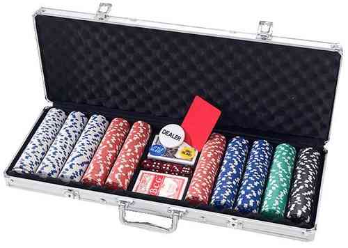 Poker Chips Set Dice