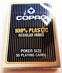 Cartas Copag 100% plástico Regular Index Azul