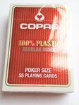 Cartas Copag 100% plástico Regular Index Rojo