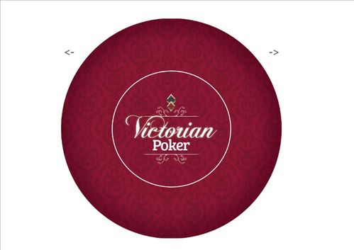 Poker layout rubber grip round Red Victorian