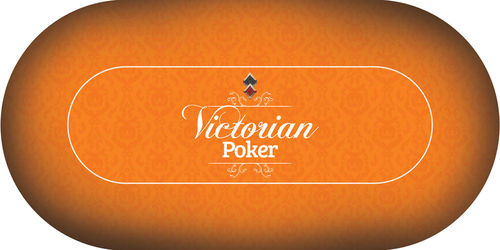 Poker layout rubber grip oval Victorian Orange