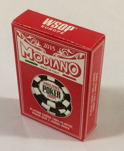 Cartas Modiano 100% plástico WSOP EUROPE 2015 Jumbo rojo