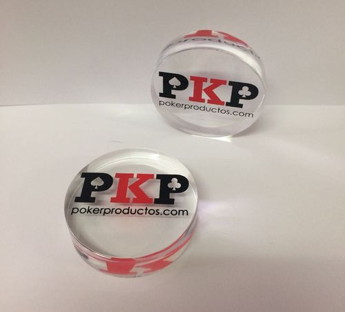 Transparent acrylic Dealer Button PKP