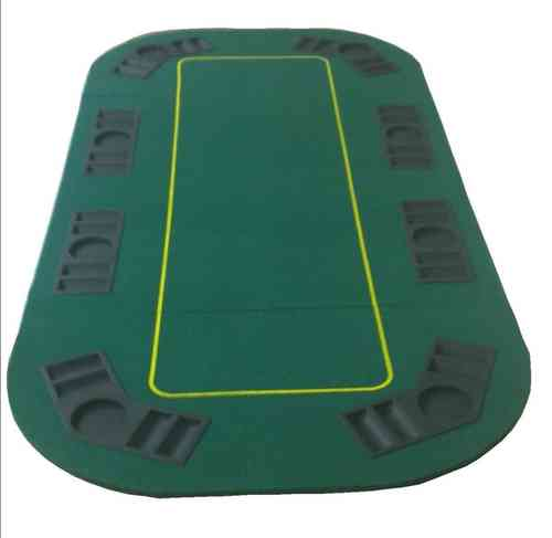 Dessus de table poker rectangulaire vert OUTLET