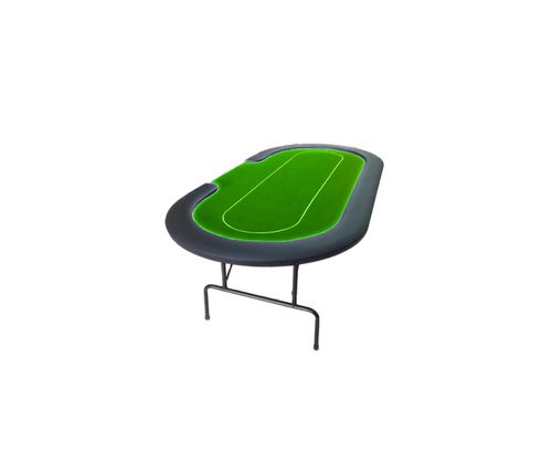 Foldable Oval Poker Table green-CROUPIER