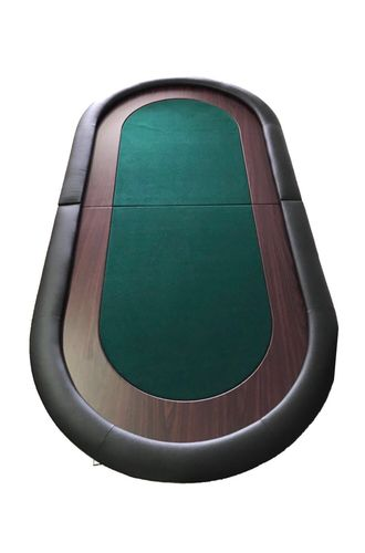 Oval Poker Table Top light green