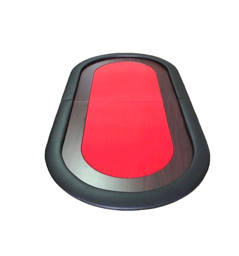 Oval Poker Table Top light red