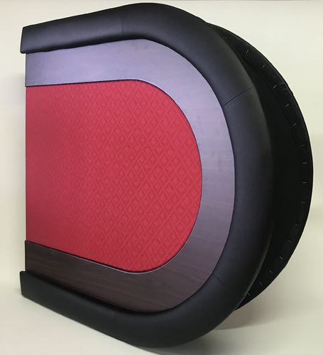 Table top poker oval rouge