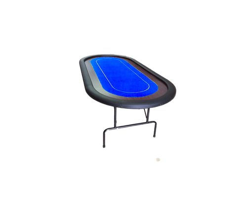 Foldable Oval Poker Table blue 10 players