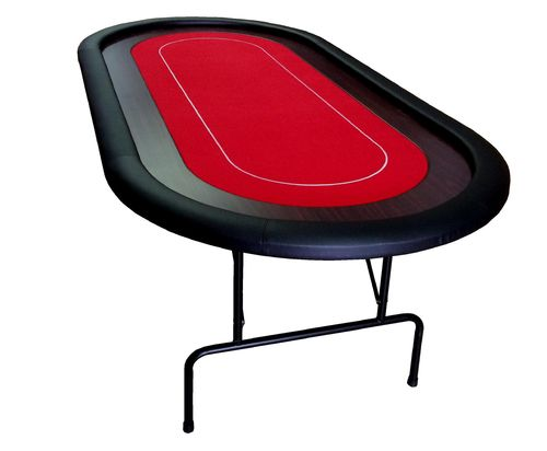 Foldable Oval Poker Table red 10 players
