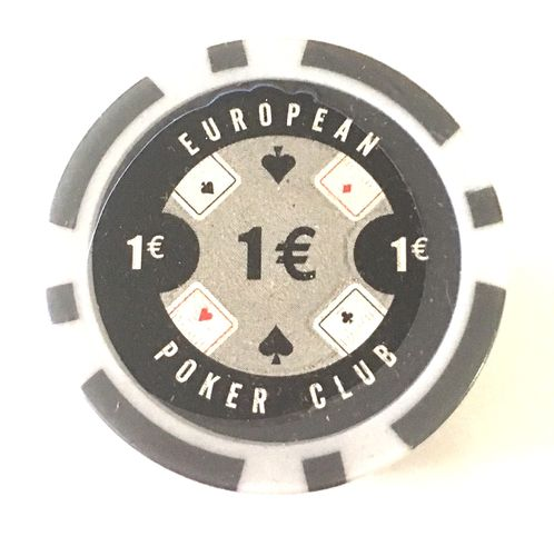 Rolls of 25 EPC Poker Chips value 1€