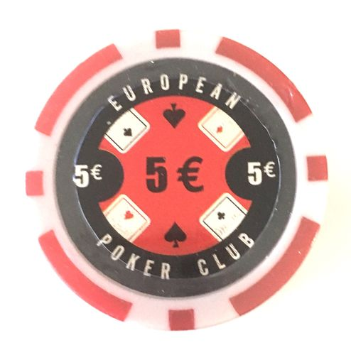 Rolls of 25 EPC Poker Chips value 5€