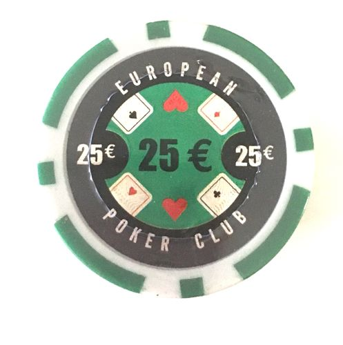 Rolls of 25 EPC Poker Chips value 25€