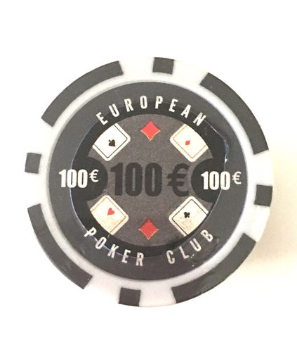 Rolls of 25 EPC Poker Chips value 100€