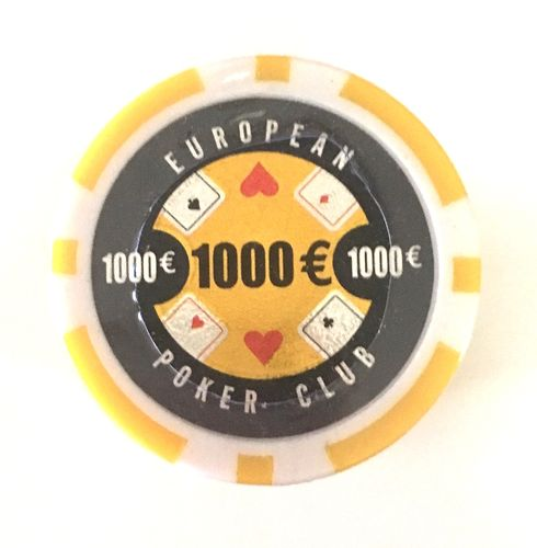 Rolls of 25 EPC Poker Chips value 1000€