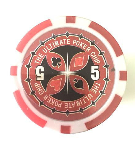 Rolls of 25 Ultimate Poker Chips value 5