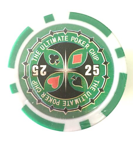 Rolls of 25 Ultimate Poker Chips value 25