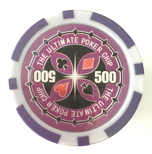 Rolls of 25 Ultimate Poker Chips value 500