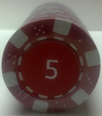 Rolls of 25 Dice Poker Chips value 5