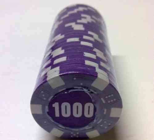 Rolls of 25 Dice Poker Chips value 1000