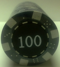 Rolls of 25 Dice Poker Chips value 100
