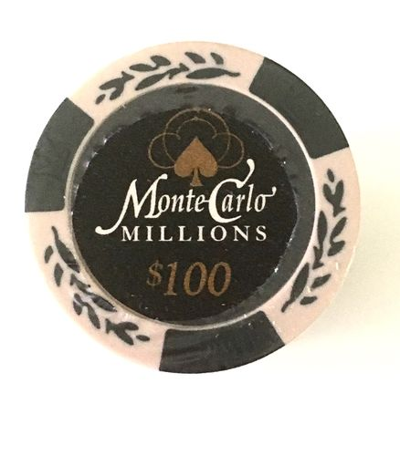 25 Montecarlo Millons Clay Chips value 100$