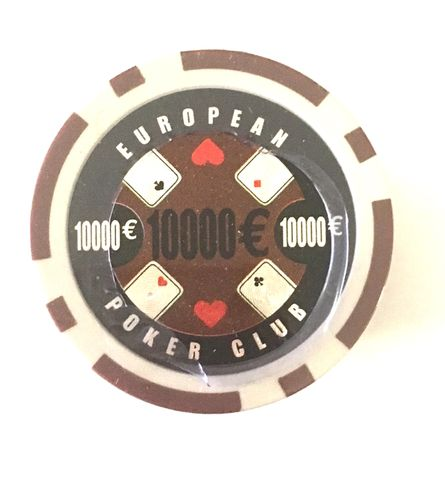 Rolls of 25 EPC Poker Chips value 10000€