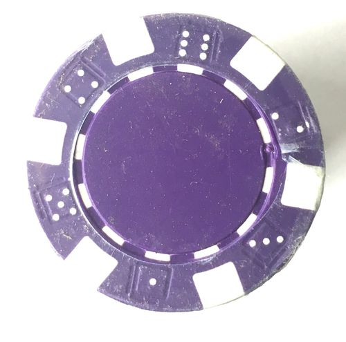 Rolls of 25 Purple Dice Poker Chips