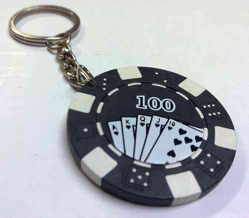 Porta chaves ficha poker
