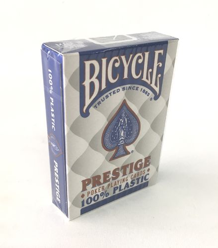 Bicycle prestige 100% plastic blue cards