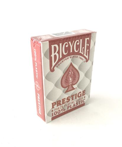 Bicycle prestige 100% plastic red cards