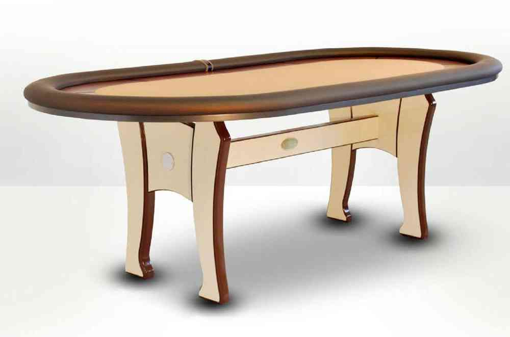 Oval Poker Table Beige Caiman Tradicion Pokerproductos Com