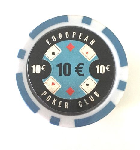 Rolls of 25 EPC Poker Chips value 10€