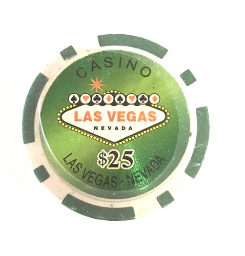Rolls of 25 Las Vegas Poker Chips value 25$