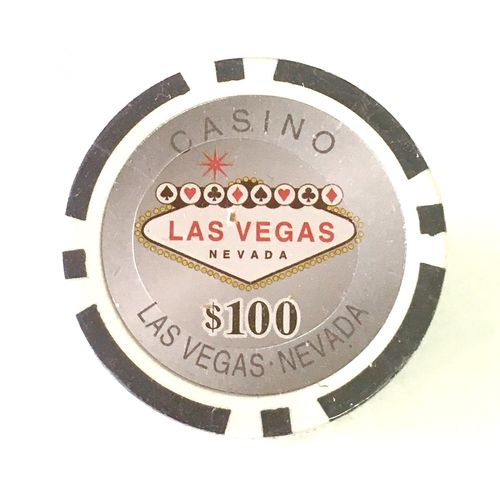 Rolls of 25 Las Vegas Poker Chips value 100$