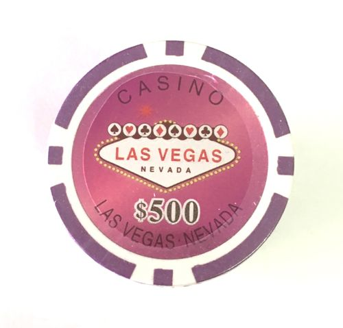 Rolls of 25 Las Vegas Poker Chips value 500$