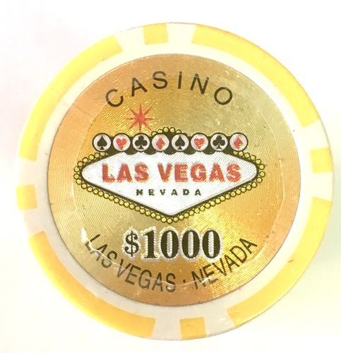 Rolls of 25 Las Vegas Poker Chips value 1000$