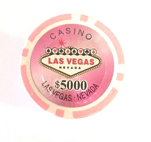 Rolls of 25 Las Vegas Poker Chips value 5000$