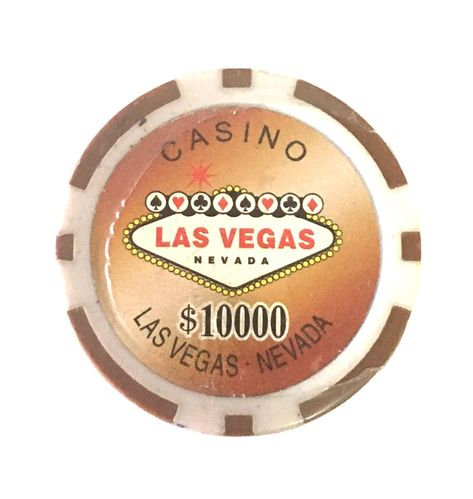 Rolls of 25 Las Vegas Poker Chips value 10000$