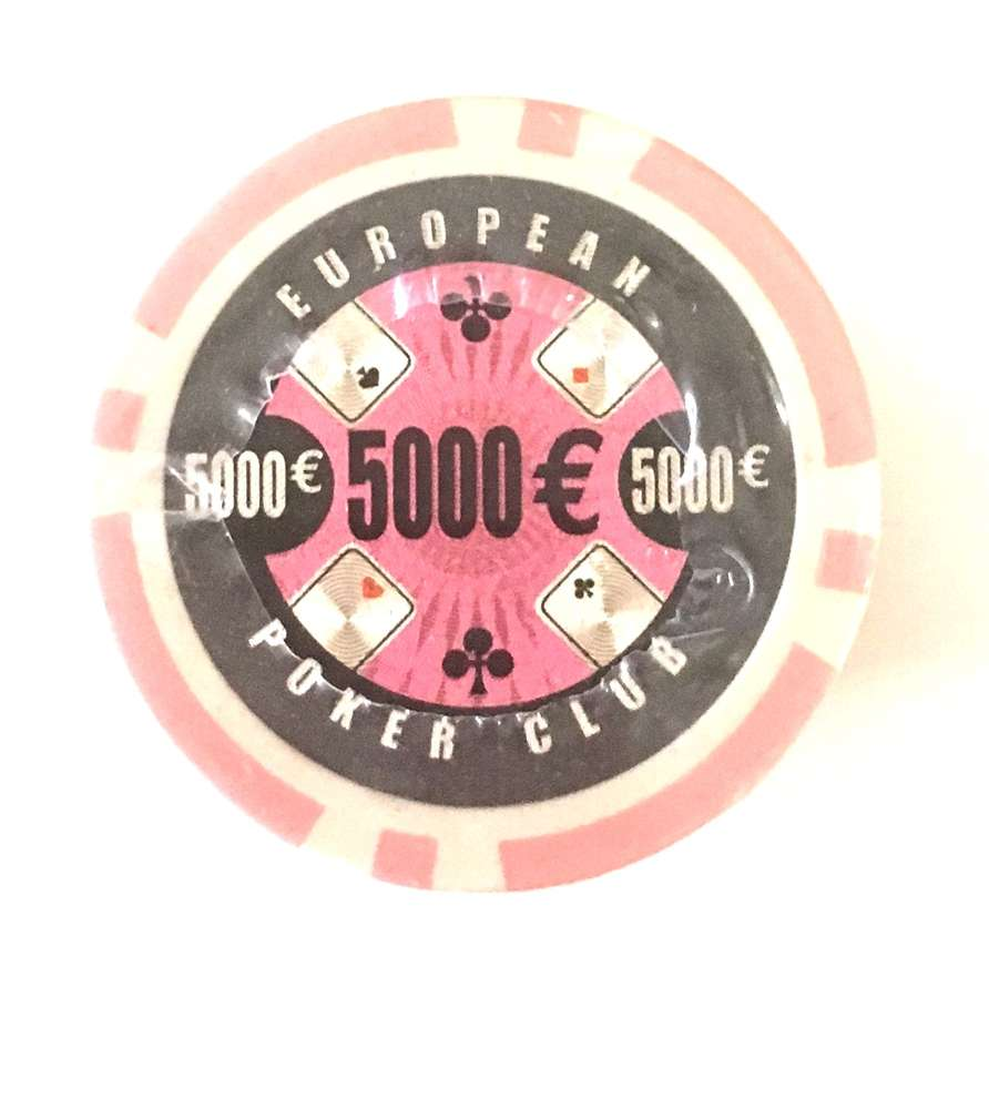 Rolls Of 25 Epc Poker Chips Value 5000 Pink Pokerproductos Com
