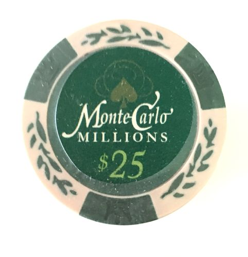 25 Montecarlo Millons Clay Chips value 25$
