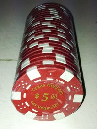 Rolls of 25 Dice Las Vegas Poker Chips value 5