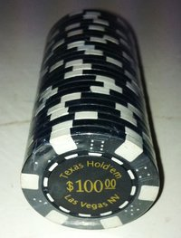 Rolls of 25 Dice Las Vegas Poker Chips value 100