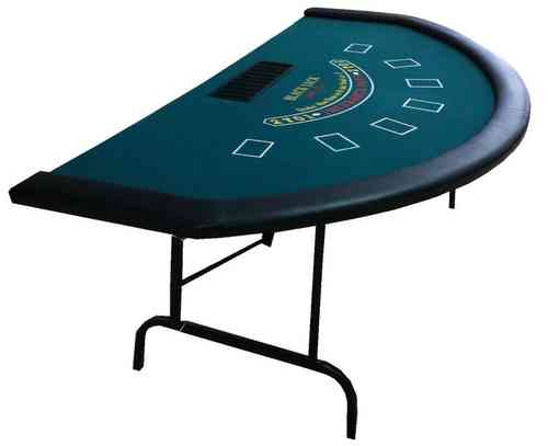 Blackjack table green