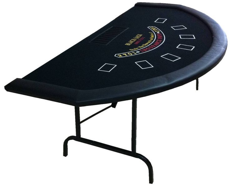 Blackjack Table Black Pokerproductos Com