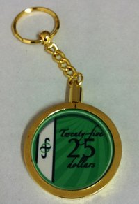Poker Key Ring B-Class chip 25
